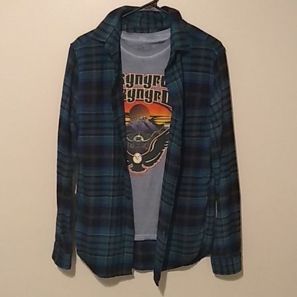 Goodfellow & Co Tops - Lynyrd Skynyrd T-shirt with matching flannel